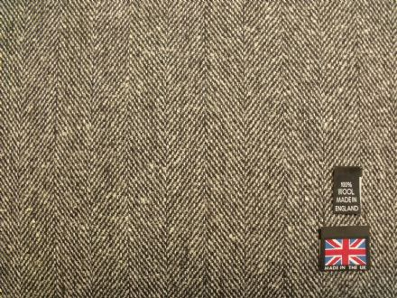 Pure New Wool Herringbone Tweed  Fabric  BZ10